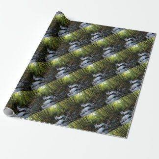 mossy stream in the forest wrapping paper