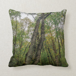 Mossy Trees in Pacific Northwest Throw Pillow