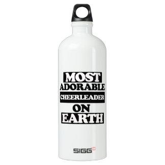 Most adorable cheerleader water bottle