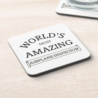 Most amazing Airport Inspector Drink Coaster
