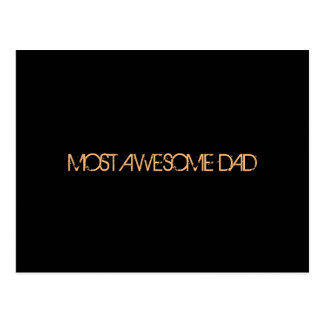 """Most Awesome Dad"" Postcard"