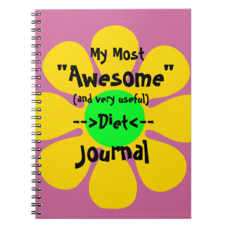 Most Awesome Diet Journal Note Book