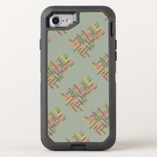 Most Common Elements Word Cloud Chemistry OtterBox Defender iPhone 8/7 Case