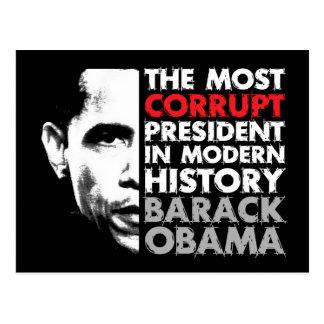 Most Corrupt President Postcard
