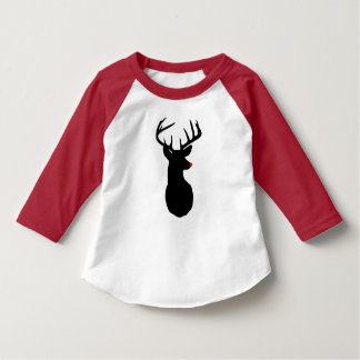 Most Famous Reindeer of All Toddler Raglan T-Shirt
