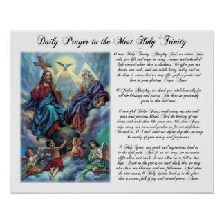 Most Holy Trinity Daily Prayer Poster