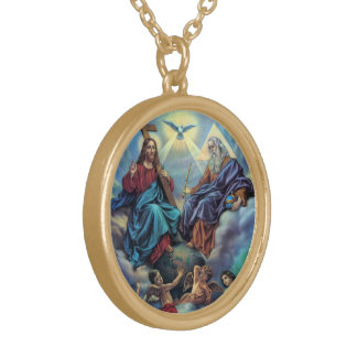 Most Holy Trinity Gold Plated Necklace
