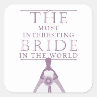 Most Interesting Bride Bachelorette Stickers