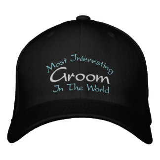 Most Interesting Groom In The World Wedding Embroidered Baseball Cap