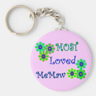 """Most Loved MeMaw""  Mother's Day Gifts Keychain"