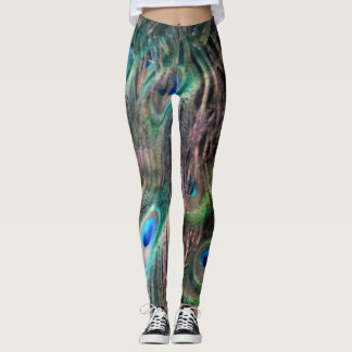 most lovely peacock feathers leggings