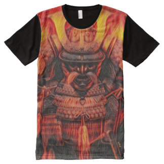 Most Popular Ancient Fire Samurai Oni Spirit All-Over-Print T-Shirt