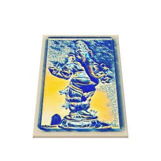 Most Popular Ancient Ganesha Scroll Watercolor Art Canvas Print