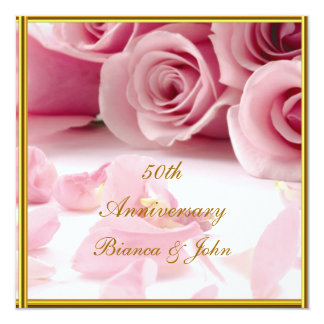 Most Popular and Elegant 50th Anniversary Card