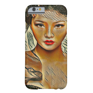Most Popular Asian Beauty Acrylic Portrait Art Barely There iPhone 6 Case