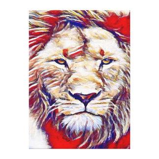 Most Popular Brilliant Watercolor Lion Canvas Print