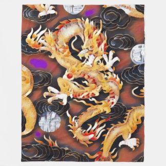 Most Popular Chinese Dragon Acrylic Paint Fleece Blanket