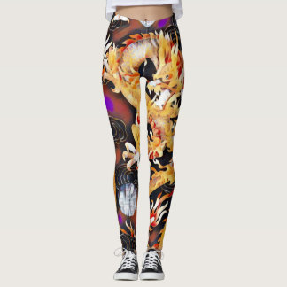 Most Popular Chinese Dragon Acrylic Paint Leggings