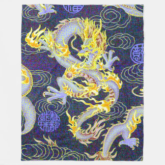 Most Popular Chinese Dragon Shaolin Pop Art Fleece Blanket