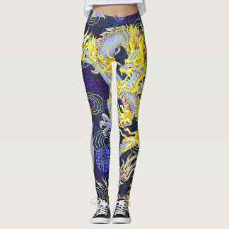 Most Popular Chinese Dragon Shaolin Pop Art Leggings