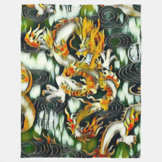 Most Popular Chinese Emperor Dragon Abstract Paint Fleece Blanket