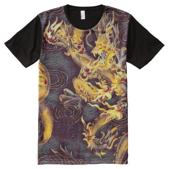 Most Popular Chinese Gold Emperor Dragon Dark Art