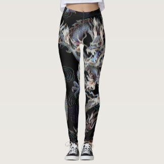 Most Popular Chinese Kung Fu Shadow Dragon Fantasy Leggings