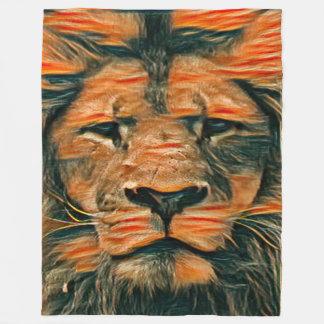 Most Popular Colorful Lion Face Chalk Art Fleece Blanket