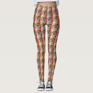 Most Popular Colourful Eye Pattern Leggings