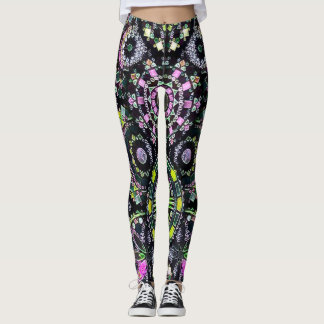Most Popular Colourful Mandala Chalk Art Leggings