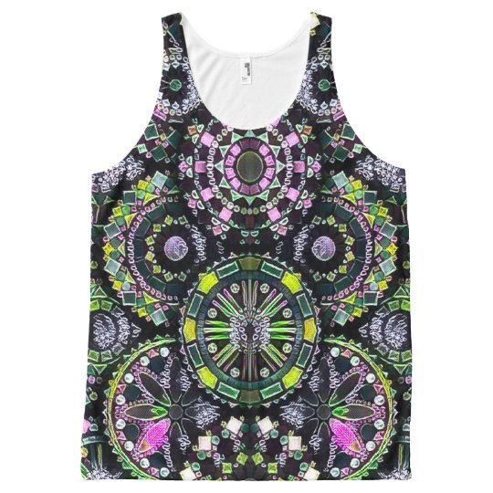 Most Popular Colourful Mandala Chalkboard Art All-Over-Print Tank Top