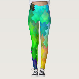 Most Popular Colourful Rainbow Camo Pattern Leggings