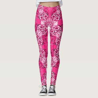 Most popular Decorative Pink Rave Party Leggings