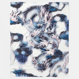 Most Popular Distressed Dragon God Fantasy Art Fleece Blanket