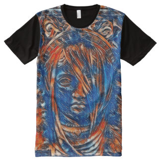 Most Popular Goddess Spirit Acrylic Paint All-Over-Print T-Shirt