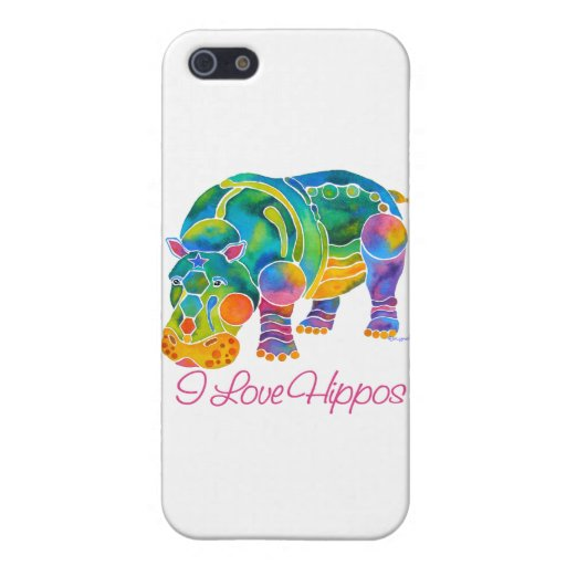 Most Popular I Love HIPPOS iPhone 5 Case