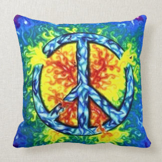Most Popular Peace Sign Throw Pillow