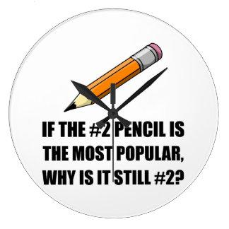 Most Popular Pencil Wall Clock