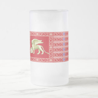 Most Serene Republic of Venice Flag Frosted Glass Beer Mug