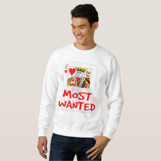 MOST WANTED LOVE Men's American Apparel Organic T- Sweatshirt