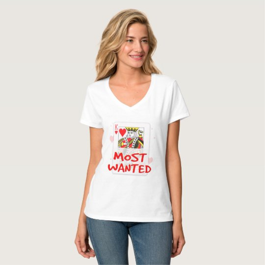 MOST WANTED , Women's Hanes Nano V-Neck T-Shirt