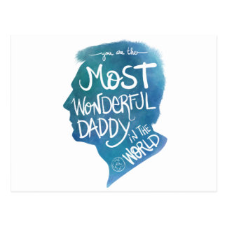 Most wonderful daddy postcard
