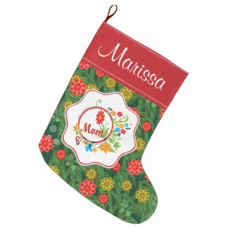 Most Wonderful Simply Incredible Fantastic Mom Large Christmas Stocking
