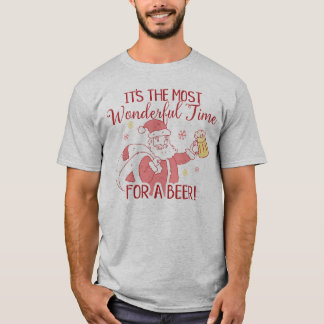 Most Wonderful Time for a Beer Santa T-Shirt
