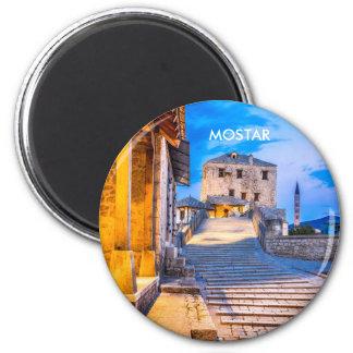Mostar Old Bridge Magnet, Bosnia & Herzegovina 2 Inch Round Magnet