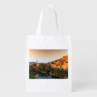 Mostar old city, Bosnia and Herzegovina Reusable Grocery Bag