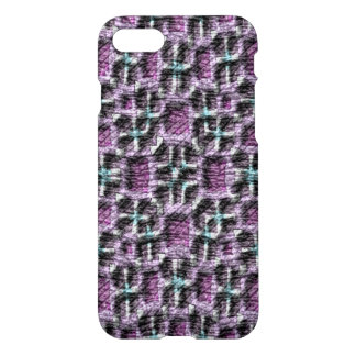 Mostly Purple abstract pattern iPhone 7 Case
