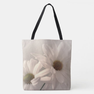 Mostly White II Floral Tote Bag