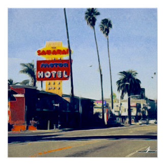 Motel On Sunset Boulevard Perfect poster