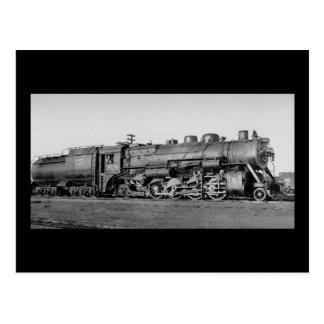 Moteur national canadien 3528 de chemin de fer carte postale
